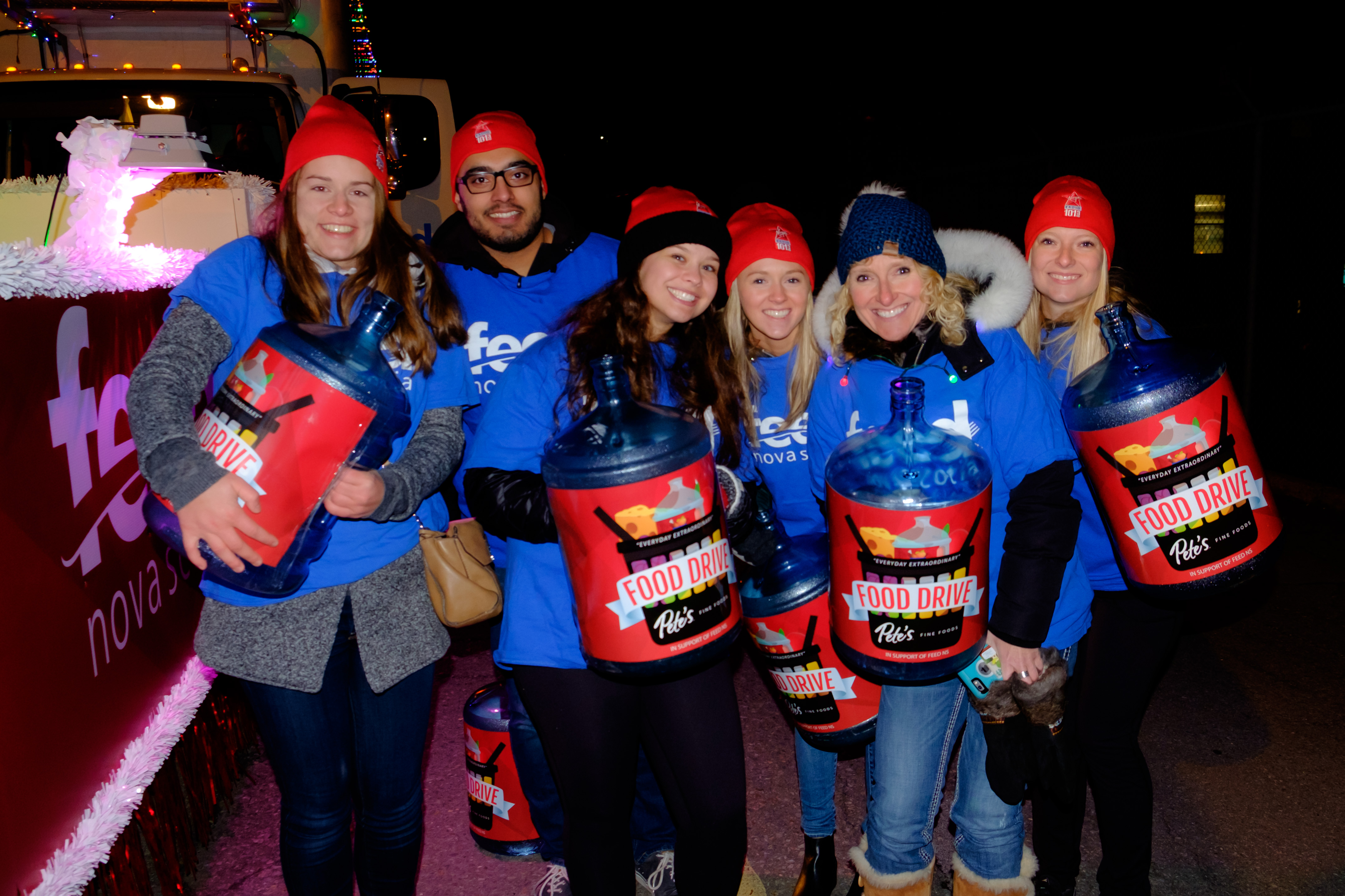 volunteers at the Holiday Parade of Lights