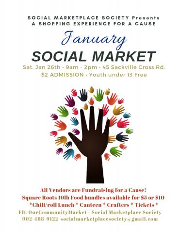 Social Marketplace Society, Social Market, Jan 26th 9am - 2pm Sackville Legion