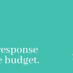 Our response to the budget