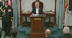 Antoinette Perry delivering PEI's throne speech