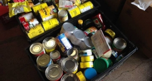 boxes of canned food