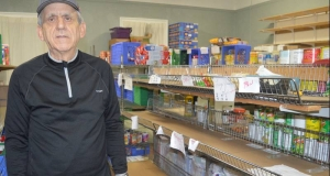 Lawrence Shebib co-ordinator of the North Sydney Community Food Bank