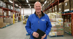 Nick Jennery standing in new Feed Nova Scotia warehouse